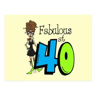 Fabuloso trigueno en el cumpleaños 40 tarjetas postales