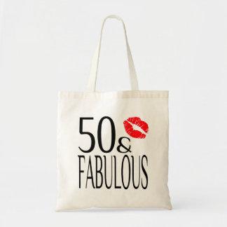 Fabuloso y cincuenta bolsa tela barata