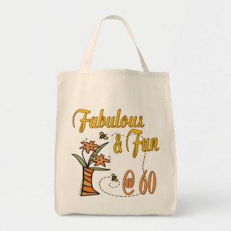 Fabuloso y diversión 60.o bolsa tela para la compra