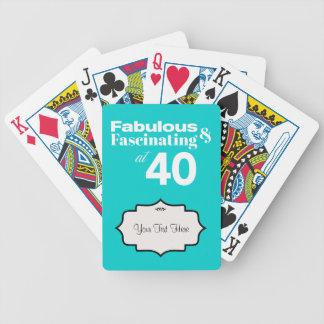 Fabuloso y fascinando en 40 cartas de juego
