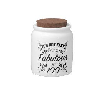 Fabulous 100th Birthday Candy Jar