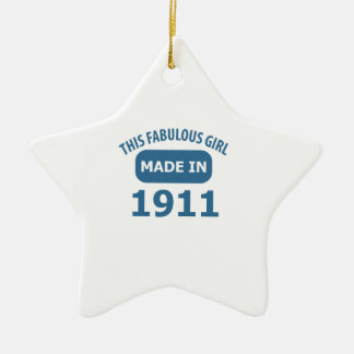 Fabulous 1911 year old designs ceramic ornament