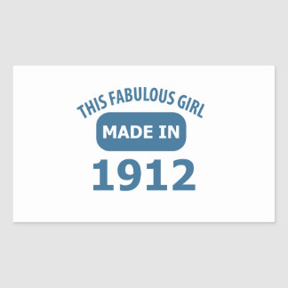 Fabulous 1912 year old designs rectangle sticker