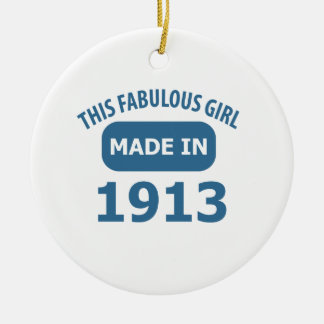 Fabulous 1913 year old designs ceramic ornament