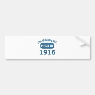 Fabulous 1916 year old designs bumper sticker