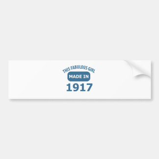 Fabulous 1917 year old designs bumper sticker