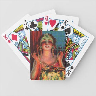 Fabulous 1920s Flapper Era Showgirl Bicycle Playing Cards