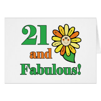 Fabulous 21st Birthday Gifts Card