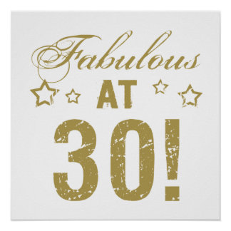 Fabulous 30th Birthday Poster