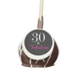 Fabulous 30th Black and Pink Birthday Cake Pops