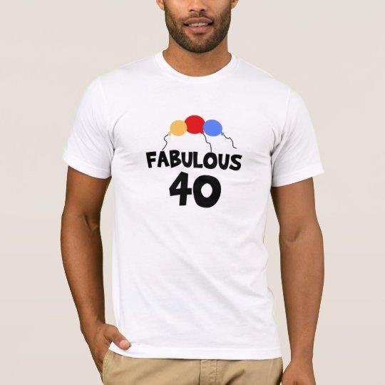 Fabulous 40 40th Birthday Adult T-Shirt