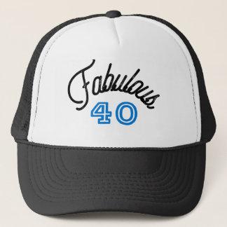 Fabulous 40 Birthday Trucker Hat