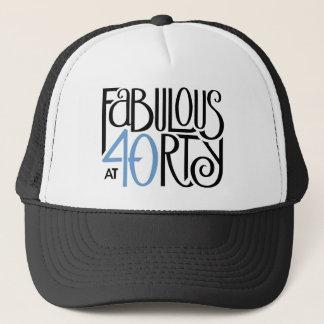 Fabulous 40 black blue Hat