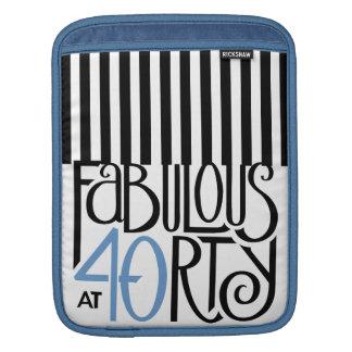 Fabulous 40 black blue iPad Sleeve