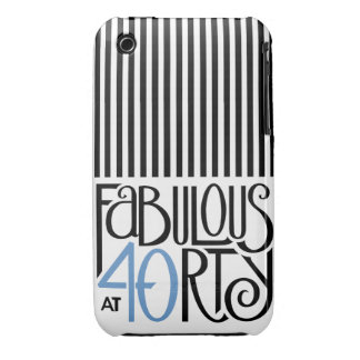 Fabulous 40 black blue iPhone 3 Barely There iPhone 3 Cases