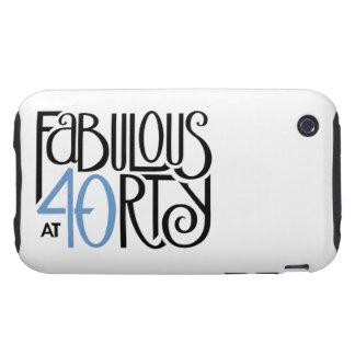 Fabulous 40 black blue iPhone 3 Tough 2 Tough iPhone 3 Case