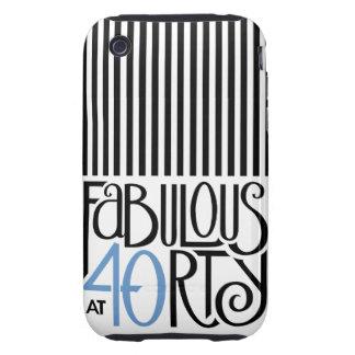 Fabulous 40 black blue iPhone 3 Tough Tough iPhone 3 Cover
