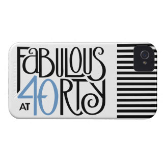 Fabulous 40 black blue iPhone 4 Barely There iPhone 4 Cover