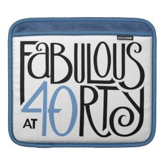 Fabulous 40 black blue MacBook Air Sleeve