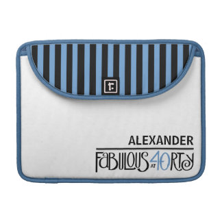 Fabulous 40 black blue MacBook Pro Sleeve