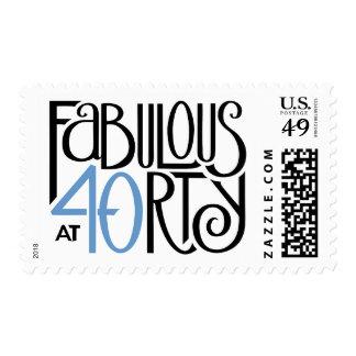 Fabulous 40 black blue Stamp