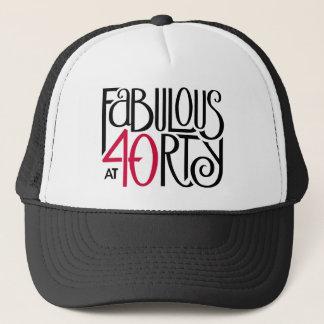 Fabulous 40 black red Hat