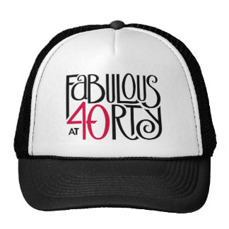 Fabulous 40 black red Hat