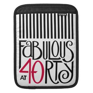 Fabulous 40 black red iPad Sleeve