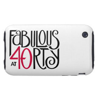 Fabulous 40 black red iPhone 3 Tough 2 Tough iPhone 3 Cover