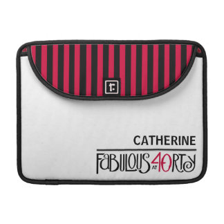 Fabulous 40 black red MacBook Pro Sleeve