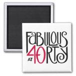 Fabulous 40 black red Magnet