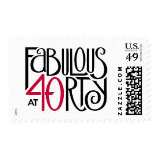 Fabulous 40 black red Stamp