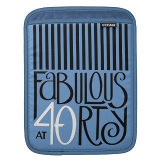 Fabulous 40 black white blue iPad Sleeve