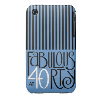 Fabulous 40 black white blue iPhone 3 Barely There iPhone 3 Case-Mate Cases
