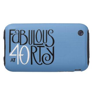 Fabulous 40 black white blue iPhone 3 Tough 2 Tough iPhone 3 Case