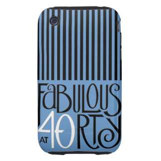 Fabulous 40 black white blue iPhone 3 Tough iPhone 3 Tough Covers