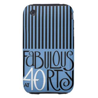 Fabulous 40 black white blue iPhone 3 Tough Tough iPhone 3 Cover