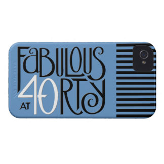 Fabulous 40 black white blue iPhone 4 Barely There iPhone 4 Covers