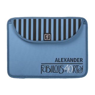 Fabulous 40 black white blue MacBook Pro Sleeve