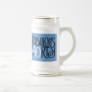Fabulous 40 black white blue Stein Mug