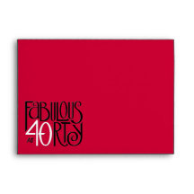 Fabulous 40 black white red Card Envelope