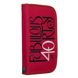 Fabulous 40 black white red Folio Organizer