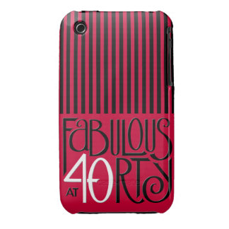 Fabulous 40 black white red iPhone 3 Barely There iPhone 3 Cover