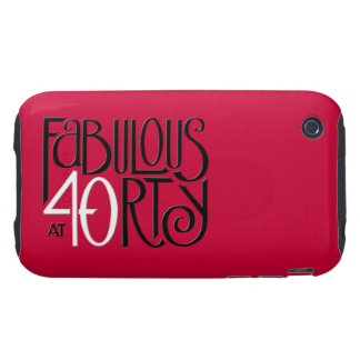 Fabulous 40 black white red iPhone 3 Tough 2 Tough iPhone 3 Cover