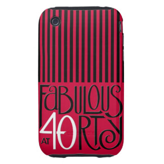 Fabulous 40 black white red iPhone 3 Tough iPhone 3 Tough Cases