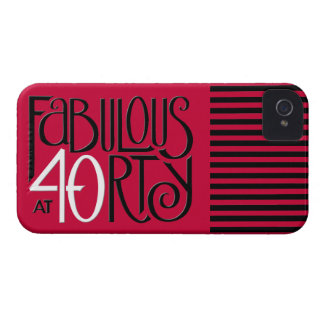 Fabulous 40 black white red iPhone 4 Barely There iPhone 4 Case-Mate Case
