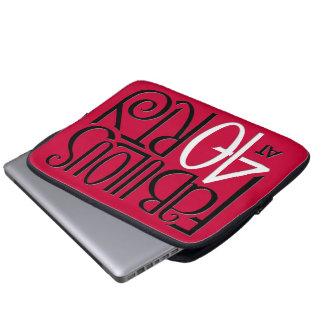 Fabulous 40 black white red Laptop Case