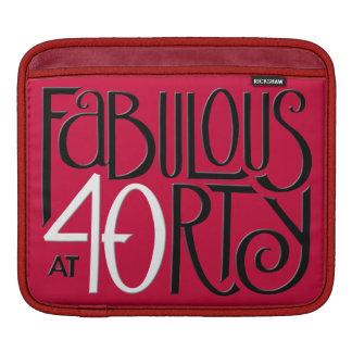 Fabulous 40 black white red MacBook Air Sleeve