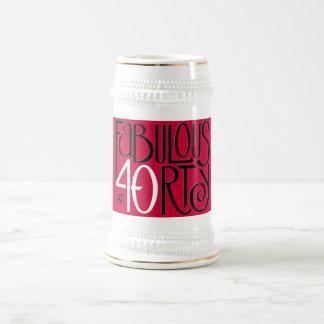 Fabulous 40 black white red Stein Mug
