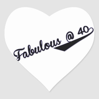 Fabulous @ 40 heart sticker